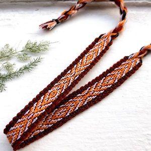 Jewelry - $4 BUNDLED🌿 Rusty Brown/Orange Woven Bracelet